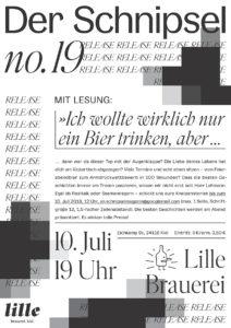Der Schnipsel Literaturmagazin Release Lesung der Ausgabe Nummer 19 in der Lille Brauerei